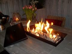 Tafel Met Haard : Vuurtafel met vlammenbak de vuurtafel